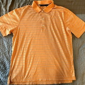 Bobby Jones Men's Orange Stripe Cotton Golf Polo L